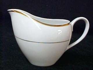 Vintage Sonnet Fine China Japan White Gold Creamer