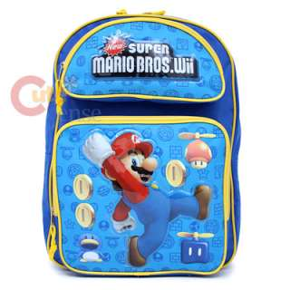 Super Mairo Wii School Backpack & Lunch Bag Coin Large