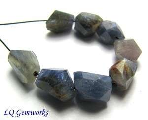 ea SAPPHIRE 7 9mm Faceted Nugget Beads NATURAL
