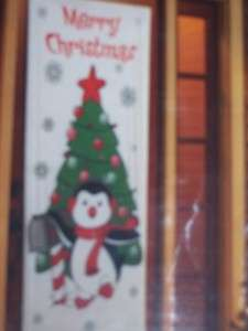 Christmas Door Decoration/Cover Penguin Tree
