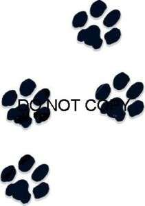 Paw Prints Nail Decal set of 20