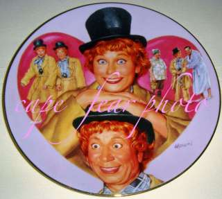 Love Lucy Meets the Stars LUCY & HARPO MARX Plate MIB