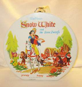 VTG IDEAL DOLL CARRYING CASE SNOW WHITE 7 DWARFS DISNEY