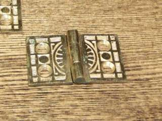 Victorian Interior Shutter Cabinet Hinges solid brass 1 1/8 x1 3/4