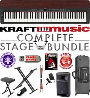 Yamaha P155 P 155 Digital Piano COMPLETE STAGE BUNDLE 086792898889