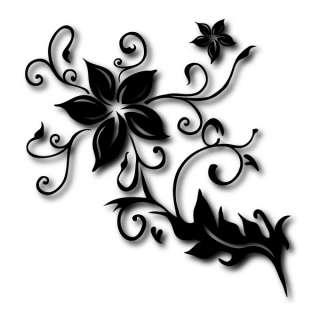 Hibiskus XXL Auto Tattoo   Blüten Ranke   Aufkleber von KLEBE X