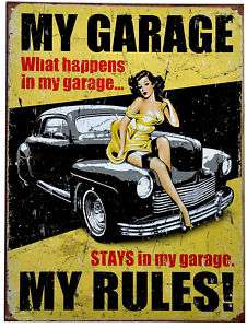 Garage Werkstatt Hot Rod Pin up Vintage Schild *070