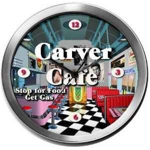 CARVER 14 Inch Cafe Metal Clock Quartz Movement: Kitchen