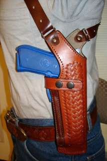 PREMIUM LEATHER SHOULDER HOLSTER 4 BERETTA 84 85 COUGAR CHEETAH