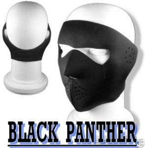 CAGOULE/ MASQUEBLACK PANTHER NEOPRENE Noir FACE MASK