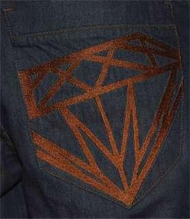 Baggy KARL KANI ** W 28 / L 30 ** DIAMOND ** Raw Blue