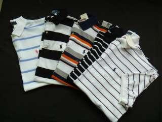 RALPH LAUREN Mens polo stripe t shirt 100% authentic size M L BNWT RRP