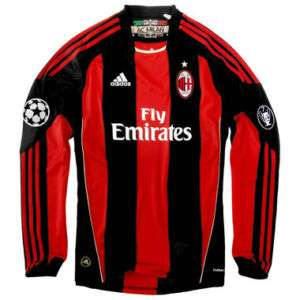 MILAN ADIDAS CHAMPIONS LEAGUE UCL MAGLIA MANLUNGA 10/11