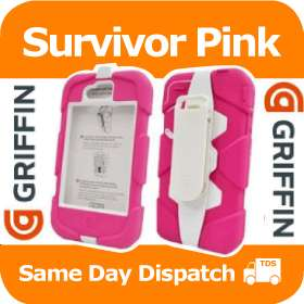 GRIFFIN SURVIVOR MILITARY TESTED CASE FOR IPHONE 4 PINK