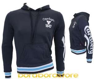 Felpa uomo Carlsberg tg.M blu cbu306 nuova collezione prim/estate 2012