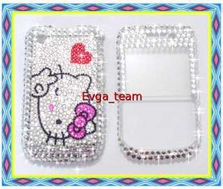Hello kitty Bling Case Cover For blackberry 8520 8530 K