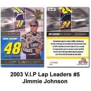 V.I.P. Head Gear 03 Jimmie Johnson Trading Card: Sports