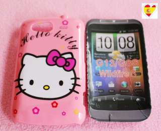 Funda CarcasaCoverCoque Para HTC Wildfire S G13 Hello Kitty Rosa