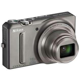 Nikon S9100 Coolpix Digital Camera & Battery 18x Zoom