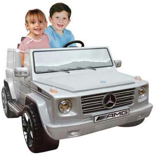 12 Volt Mercedes Benz G55 Silver 2 Seater Ride On   Playmind Limited