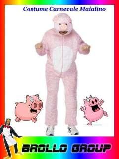 Costume Carnevale Adulto Animale Maiale , Maialino Rosa # 5475 Costumi