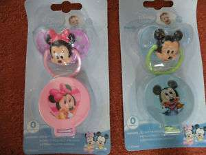 Disney Mickey Minnie Mouse Baby Dummy Soother Clip 6m+