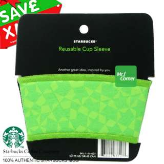 star418 starbucks coffee holder green Reusable cup tumbler sleeve NEW