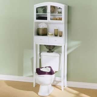 Wildon Home Woodrow Arch Top Bathroom Space Saver in White