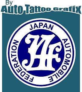 JDM JAPAN AUTOMOBILE FEDERATION Decal Sticker Car Truck