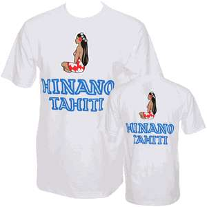 NEW * HINANO BEER LOGO T SHIRT TAHITI BEER WHITE XL
