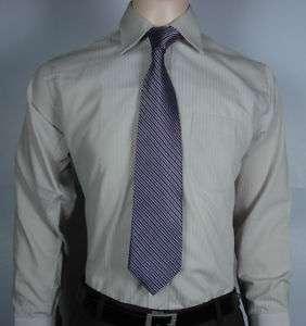 London Fashion Mens Dress Business Shirts Tie Brown L04