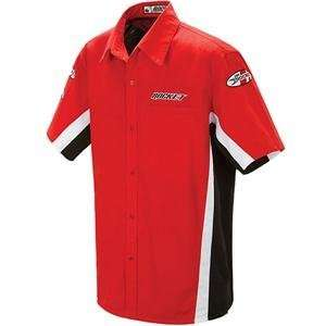 Joe Rocket Staff Shirt 2.0   X Large/Red/White Automotive