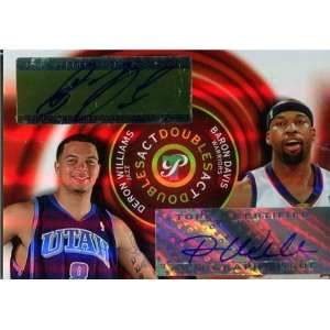 Deron Williams & Baron Davis Autographed/Hand Signed 2005