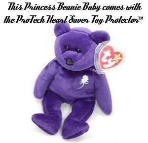 Princess Diana Beanie Baby Bear 1st Ed #1 1997 PVC China MWMT True