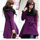 more options women wool winter noble real rabbit collar coat 4color au