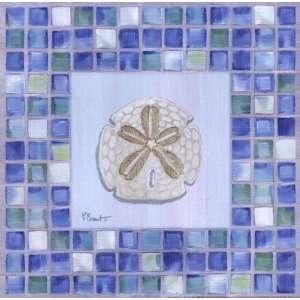 Mosaic Sanddollar by Paul Brent . Art PRINT Poster 12.00 X