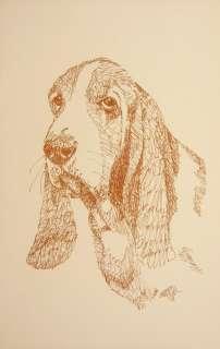 BASSET HOUND DOG ART #244 Stephen Kline draws dogs name free. DRAWN