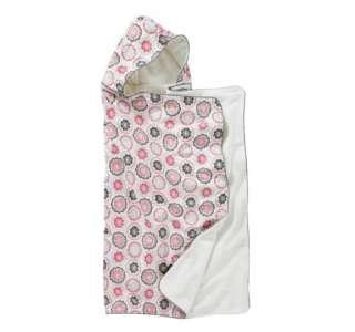 Dwell Studio Zinnia Rose Hooded Bath Towel NEW