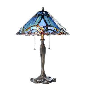 Contemporary Victorian Tiffany Style Table Lamp