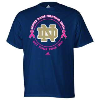 Notre Dame Fighting Irish adidas Navy Breast Cancer Awareness Live