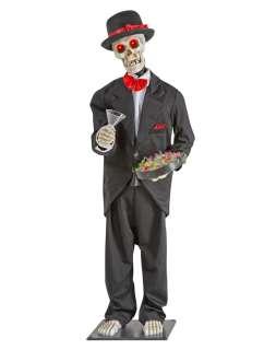 Lifesize Animated Party Hardy Skeleton Butler