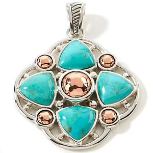 Studio Barse Turquoise Sterling Silver and Copper Pendant