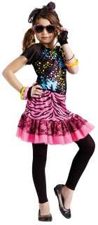 Girls 80s Pop Star Diva Costume   Eighties Costumes