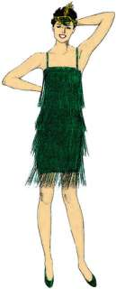 Pattern Roaring 20S Dress (Adult Costume)