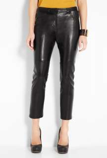 Acne  Stone Black Leather Trousers by Acne
