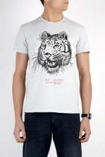 2K by Gingham  Light Grey Beer Tiger T Shirt by 2K By Gingham