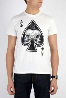 2K by Gingham  Off White Skull Of Spades T Shirt by 2K By Gingham