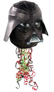 Star Wars 3D Helmet Shaped Pull String Pinata   Includes one 3 D Star