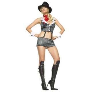 Adult Sexy Pinstripe Mafia Costume   Gangster Costumes   15UA53006