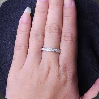 Anniversary Diamond Eternity Wedding Band Ring 18K Gold